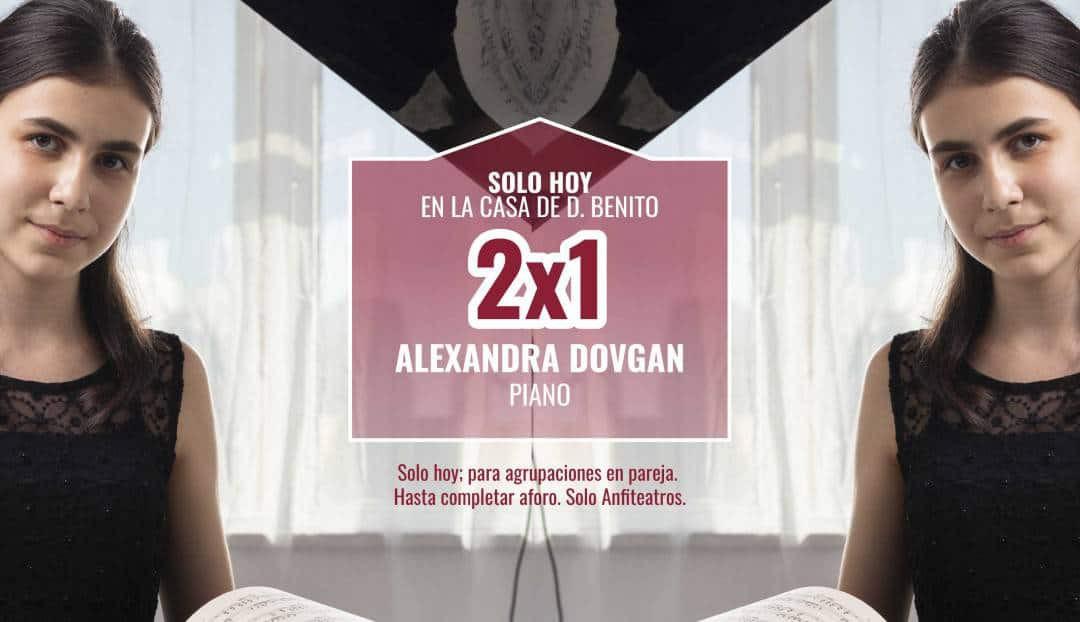 Promoción 2x1 para el recital de Alexandra Dovgan