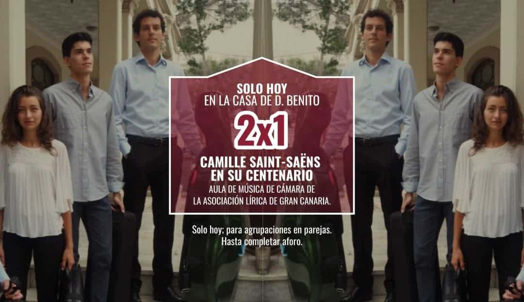 Celebramos el centenario de Saint-Saëns con promoción
