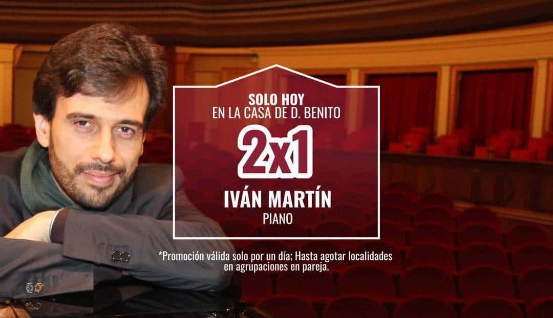 Imagen noticia - Hoy, oferta 2x1 para el recital del pianista Iván Martín