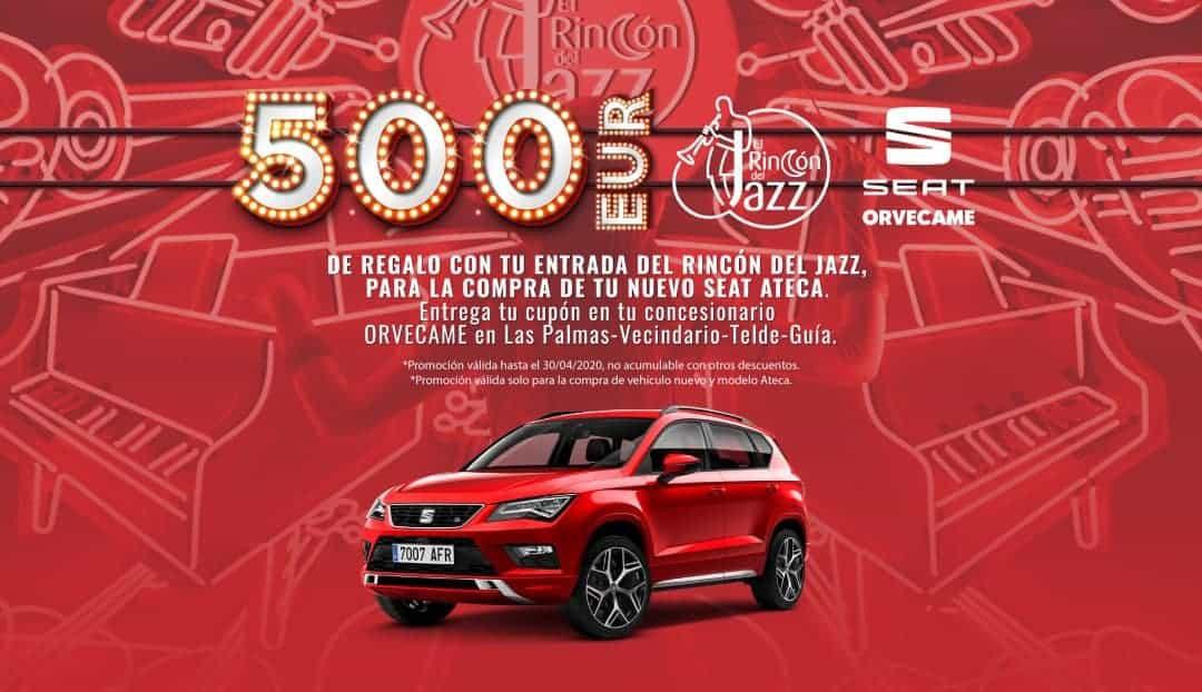 Hoy, 500 euros de descuento con SEAT y el Rincón del Jazz