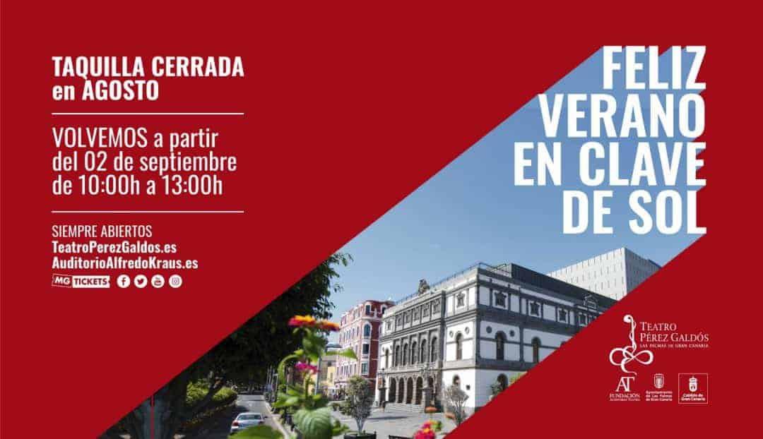 Imagen noticia - La taquilla del Teatro Pérez Galdós cierra en agosto